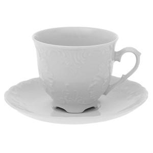 """Чашка с блюдцем """"Белые лепестки"""" 250 мл"""