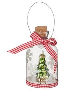 Бутылочка декоративная с елочкой