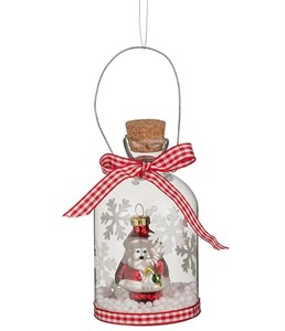 Бутылочка декоративная с Дедом Морозом