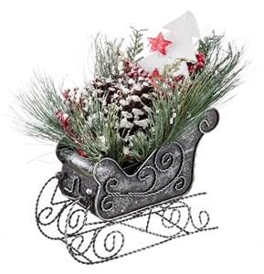Декоративные новогодние сани