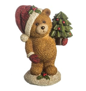 "Статуэтка ""Медвежонок с елкой"""