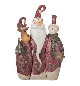 """Набор статуэток """"Дед Мороз и его друзья"""""""