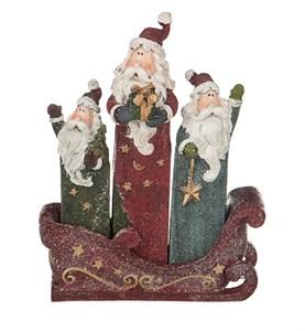 """Набор статуэток """"Деды Морозы в санях"""""""