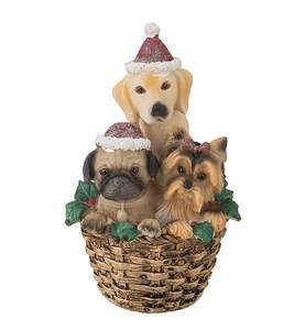 """Статуэтка """"Собаки в корзине"""""""