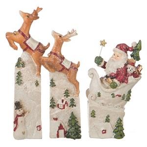 "Набор статуэток ""Дед мороз с оленями"""