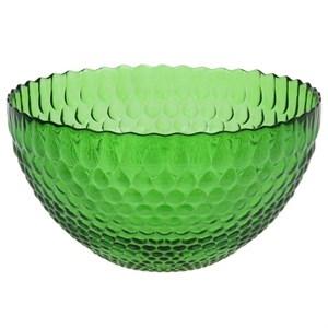 Салатник стеклянный зеленый, диаметр 25 см