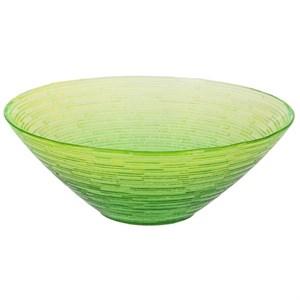 Салатник стеклянный светло-зеленый, диаметр 20 см