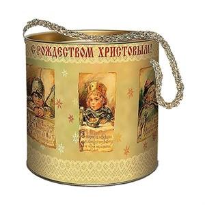 "Подарочная коробка с крышкой  ""Винтаж"" 12х12 см"