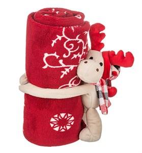 """Плед 100х75 см с игрушкой """"Олень"""" в подарочной упаковке"""