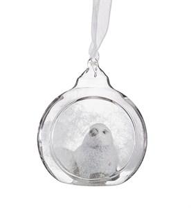 """Елочная игрушка """"Птица в шаре"""""""