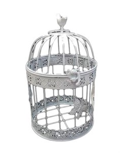 Клетка декоративная с птичкой большая