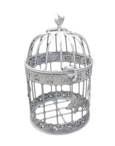 Клетка декоративная с птичкой малая