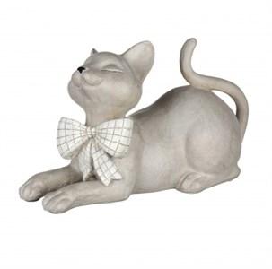 """Статуэтка """"Кошка с бантом"""" 26х15 см"""