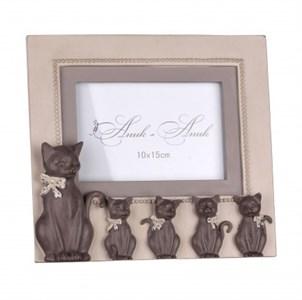 "Фоторамка ""Кошка с котятами"" для фотографии 10х15 см"