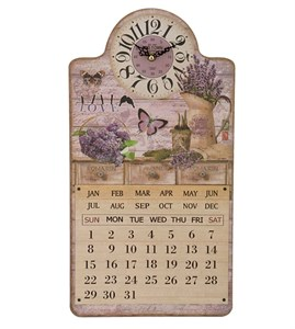 "Часы-календарь настенные ""Любимая лаванда"""