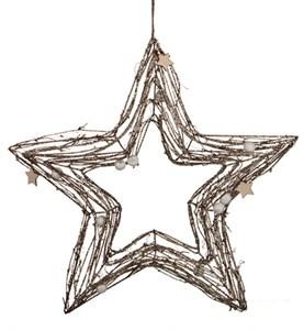Звезда декоративная подвесная, высота 45 см