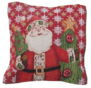 """Подушка """"Дед Мороз с елкой"""" 43х43 см"""