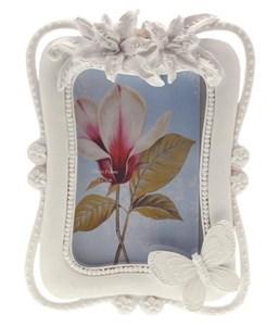 """Фоторамка """"Белые цветы"""" для фотографии 10х15 см"""
