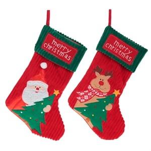 """Носок для подарков """"С Рождеством"""" в ассортименте"""