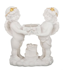 """Статуэтка-подсвечник """"Ангелы со свечой"""""""