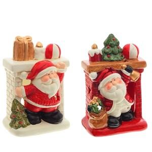 "Статуэтка ""Дед Мороз у камина"" в ассортименте"