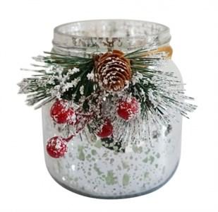 "Подсвечник-вазочка ""Новогодняя"" серебристая"