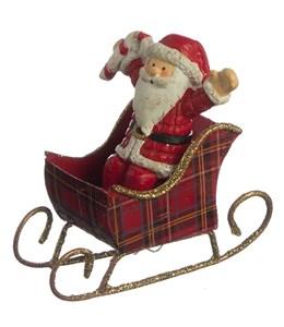 """Статуэтка """"Дед Мороз на санях"""""""