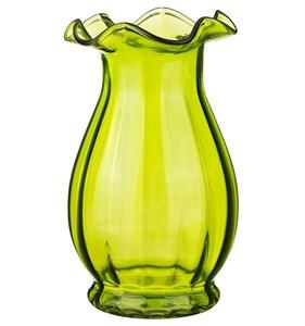 """Ваза стеклянная """"Бутон"""" зеленая"""