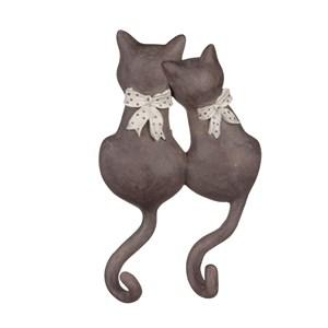 """Вешалка-крючок """"Два кота с бантом"""""""
