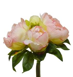 Букет розовых пионов, высота 23 см