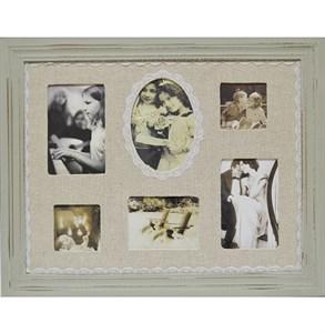 """Фоторамка """"Воспоминания"""" на шесть фотографии 7х7, 9х14, 10х15, 12х9 см"""