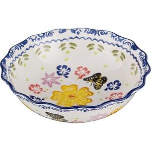 """Салатник """"Цветы"""", диаметр 19 см"""