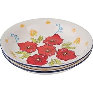 """Тарелка """"Красные цветы"""", диаметр 23 см"""