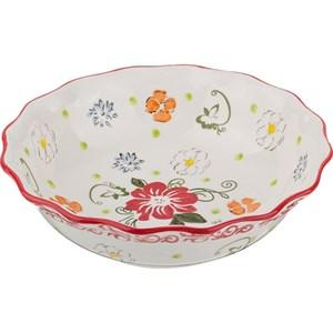 """Салатник """"Красные цветы"""", диаметр 19 см"""