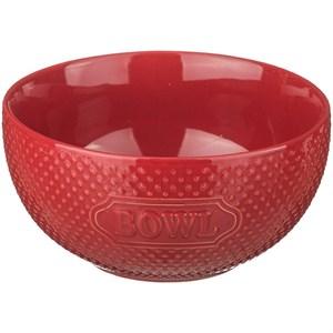 Миска керамическая красная, диаметр 15 см