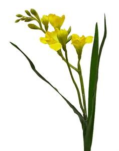 """Цветок искусственный """"Фрезия"""" желтый"""