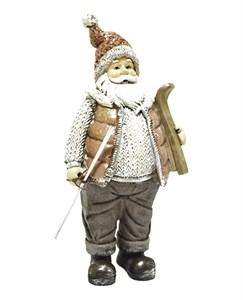"""Статуэтка """"Дед Мороз с лыжами"""""""