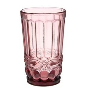 """Стакан """"Франция"""" розовый 350 мл из цветного стекла"""