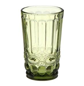 """Стакан """"Франция"""" зеленый 350 мл из цветного стекла"""