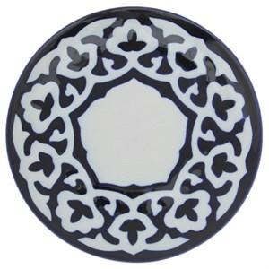 """Тарелка """"Восточные мотивы"""" синяя круглая, диаметр 19 см"""