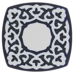 """Тарелка """"Восточные мотивы"""" синяя прямоугольная, диаметр 20 см"""