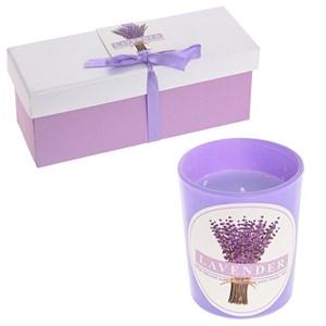 """Набор из трех аромасвечей """"Лаванда"""" в коробочке"""