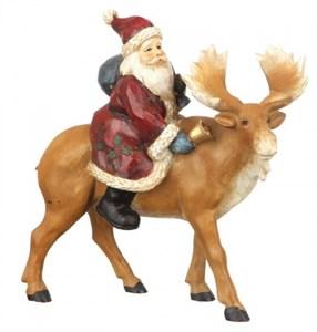 """Статуэтка """"Дед Мороз на олене"""""""