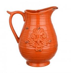 """Кувшин керамический """"Винтажный медальон"""" оранжевый"""