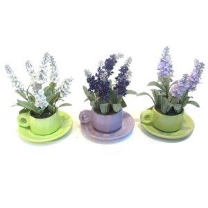 Цветы искусственные в кружке в ассортименте, цена указана за 1 шт