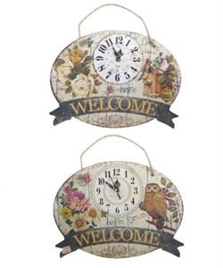 """Часы настенные """"Добро пожаловать"""" в ассортименте, цена указана за 1 шт"""