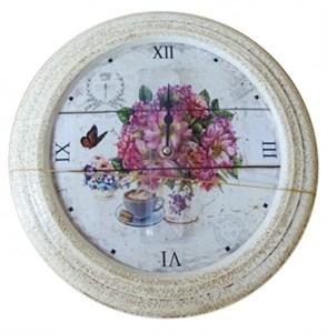 """Часы настенные """"Цветочный натюрморт"""", диаметр 32 см"""