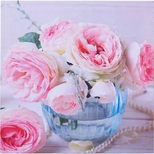 """Панно на холсте """"Букет роз"""" 28х28 см"""