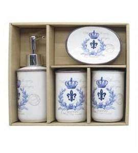 """Набор для ванной комнаты """"Королевский"""" синий"""
