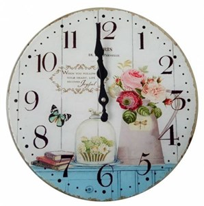 "Часы настенные ""Натюрморт с розами"", диаметр 30 см"